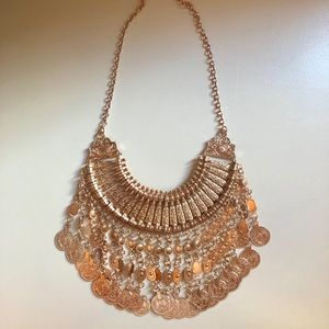 Jewelry - boho coin necklace